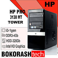 Системний Блок  HP PRO 3130 MT / Tower 1156  /  Intel Core I3-1gen / DDR3- 4GB / HDD-320GB (к.00101060), фото 1