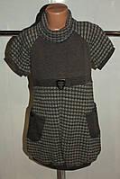 Платье трикотажное на девочку серое Польша