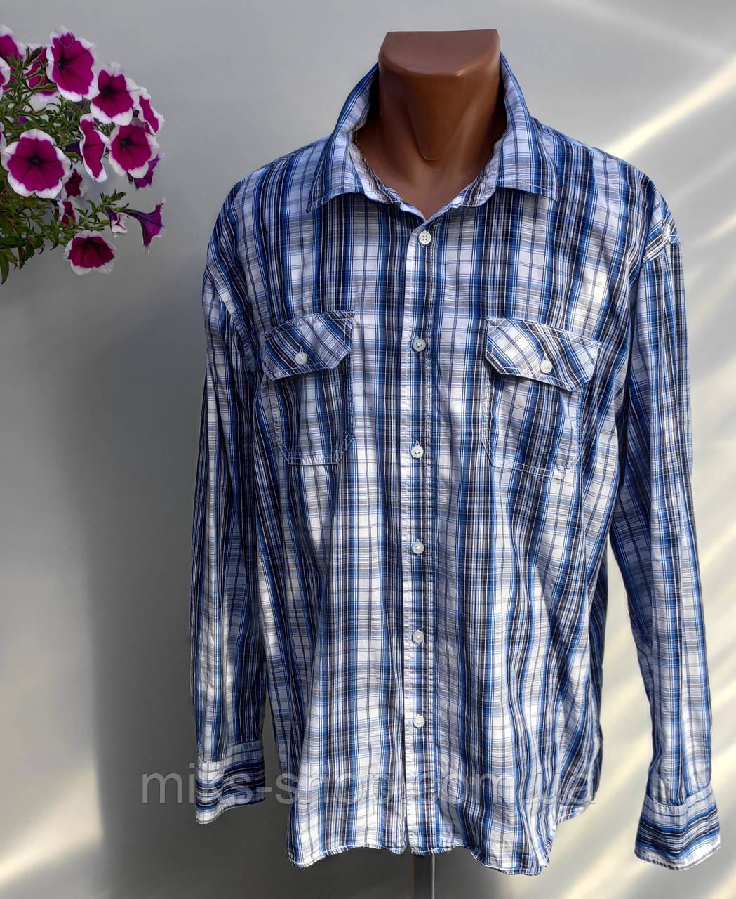 Чоловіча сорочка в клітку Розмір XXL ( Я-114)