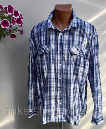 Чоловіча сорочка в клітку Розмір XXL ( Я-114), фото 2