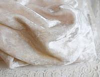 Бархат мраморный 20*30 см, молочный , стрейчевый
