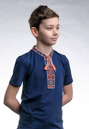 Детская футболка с вышивкой с коротким рукавом «Казацкая (красная вышивка)», фото 2