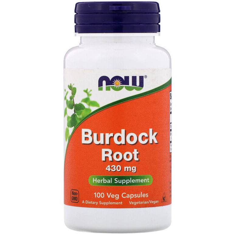 "Корень лопуха NOW Foods ""Burdock Root"" 430 мг (100 капсул)"