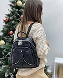 Женский кожаный рюкзак polina&eiterou, фото 3