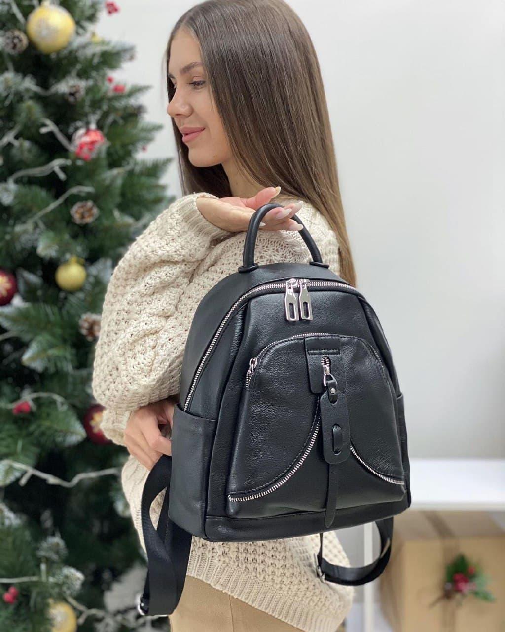 Женский кожаный рюкзак polina&eiterou