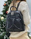 Женский кожаный рюкзак polina&eiterou, фото 2