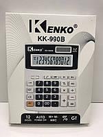 Калькулятор настольный kk-990В в белом корпусе