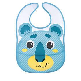 Слюнявчик Canpol babies с карманом Hello Little бирюзовый 9 232tur, КОД: 2424803