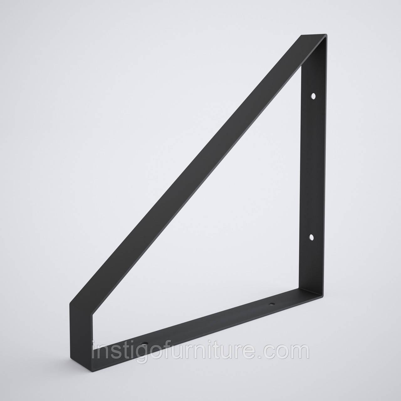 Кронштейн для полки из металла 254×30mm, H=250mm