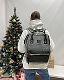 Школьный детский рюкзак himawari серый, фото 2