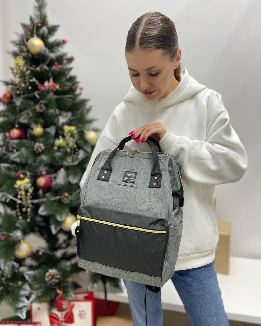 Школьный детский рюкзак himawari серый