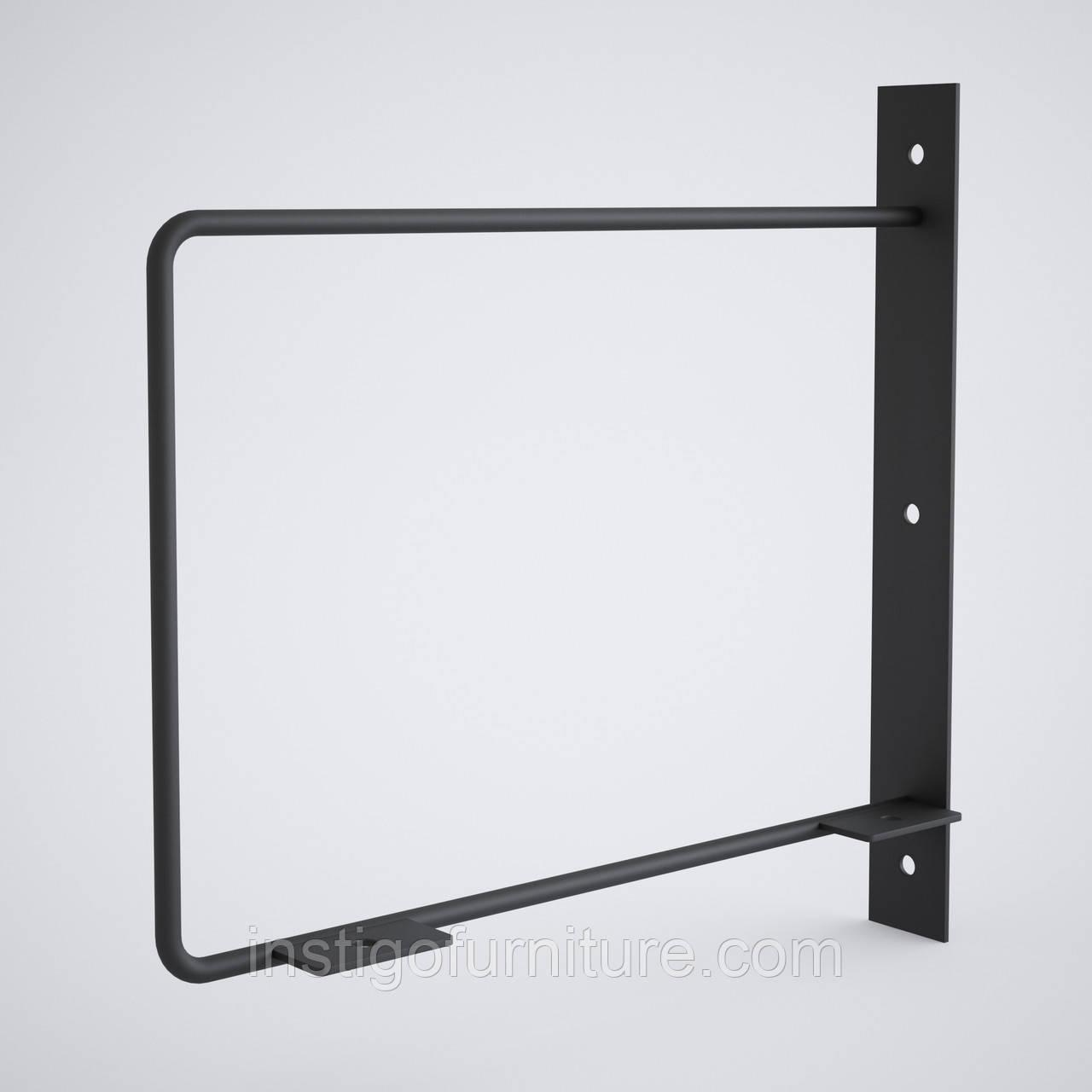 Кронштейн для полки из металла 258×30mm, H=250mm