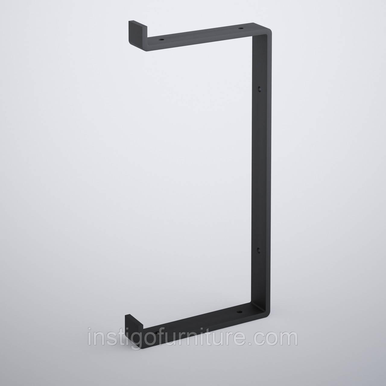 Кронштейн для полки из металла 162×30mm, H=340mm