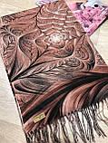 Женский палантин с красивым рисунком 180х70 см, фото 3