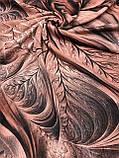 Женский палантин с красивым рисунком 180х70 см, фото 4
