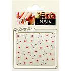 Наклейки для Ногтей Самоклеющиеся 3D Nail Sticrer CH-1-03 Цветы Белые, Маникюр, Ногти, фото 2
