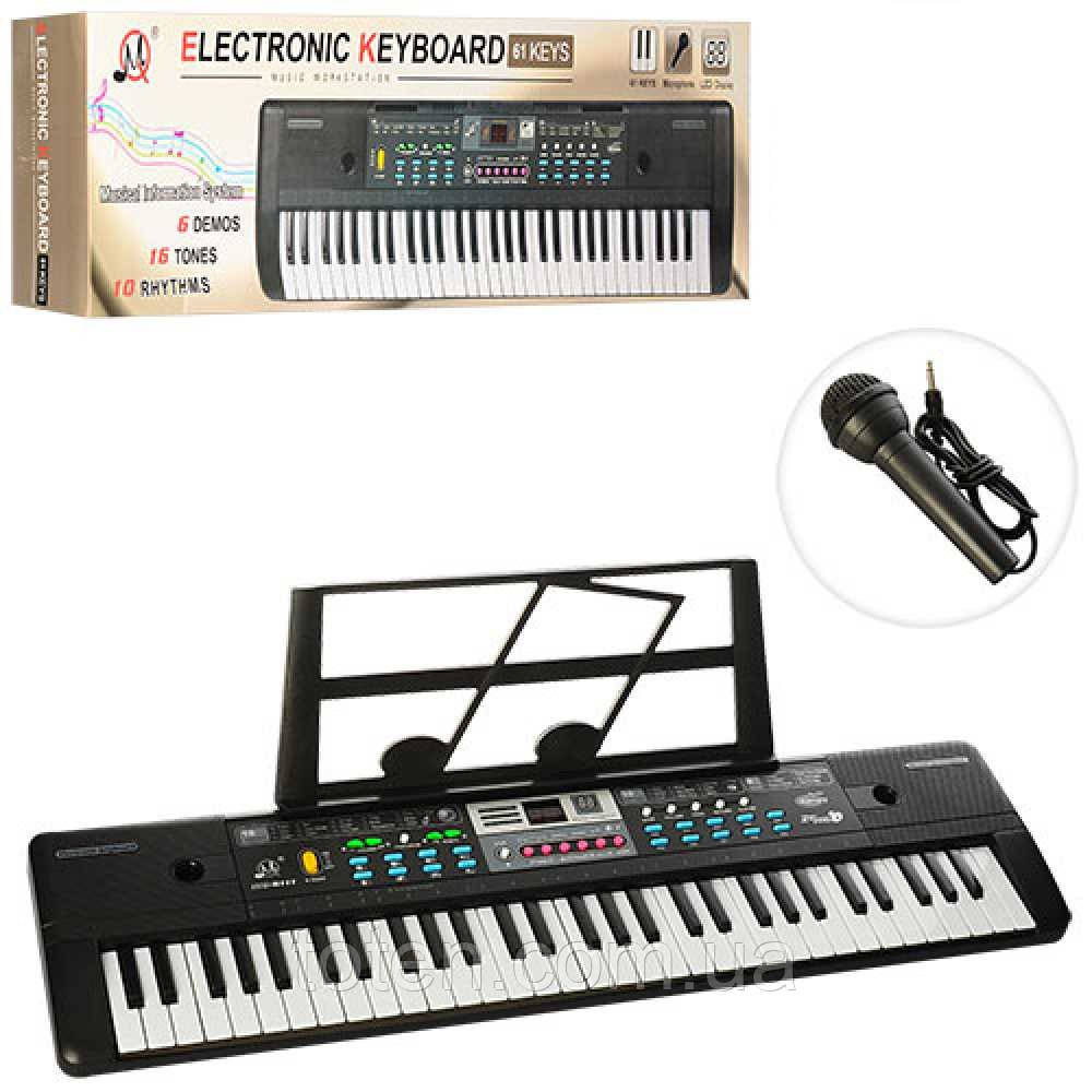 Синтезатор MQ6111-12 , 61 клавіша, МР3, радіо, демо, 6 тонів, запис, 2 види, на бат-ке/від мережі