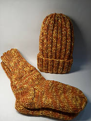 Шапка, шкарпетки р. 38/39 (50% шерсть)