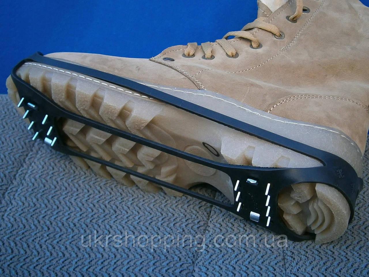 Льодоступи на 28 шипів, розмір 38-46, накладки на взуття проти ковзання   ледоступы на обувь
