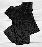 Пижама, велюровый комплект футболка и шорты.