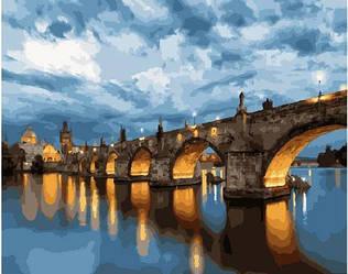 Картина раскраска по номерам Ночной мост GX23891