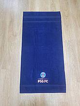 Полотенце махровое банное с символикой FC PSG.