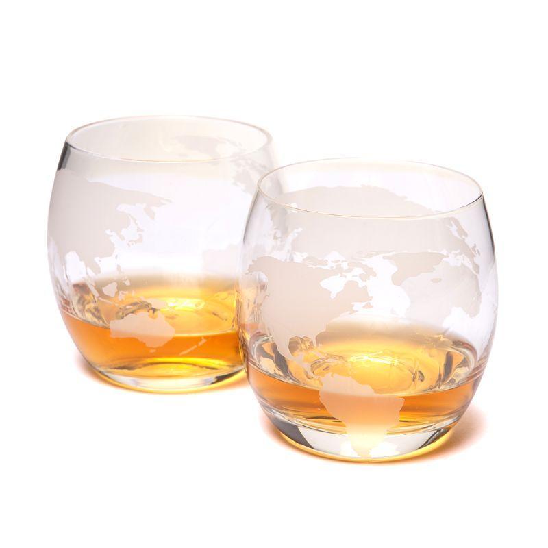 "Набор 2-х стаканов для виски ""Вокруг света"" 640007"