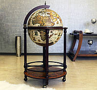 Глобус бар напольный на 4 ножки беж-темная вишня 50*50*90 см Гранд Презент 42003W-R, фото 1