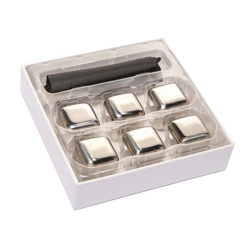 Подарочный набор камни кубики для виски 6 шт металл 980022