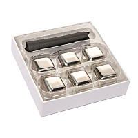 Подарочный набор камни кубики для виски 6 шт металл 980022, фото 1