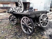 Воз телега деревянная для декора