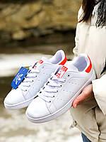 Кроссовки Adidas Stan Smith Red Стен Смит, фото 1