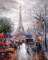 Картина рисование по номерам ArtStory Французская улочка 40х50см AS0035 набор для росписи, краски, кисти,