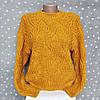 Женский вязанный свитер Турция - в горчичном цвете