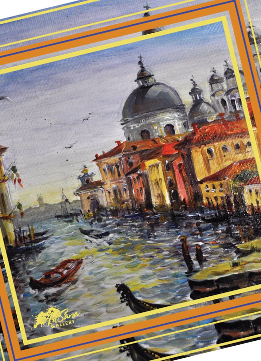 """Дизайнерский шелковый платок """"Венеция"""""""