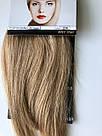 Накладная челка из натуральных волос блонди (светло русого оттенка), натуральная чёлка на заколках, фото 7