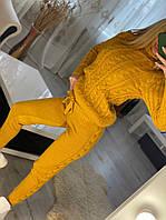 Женский шерстяной вязанный костюм, фото 1