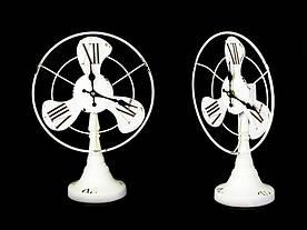 Настольные часы Антик Вентилятор 35х25х13 см Белый (20799)