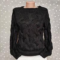 Свитера женские модная объемная вязка Турция - черный цвет