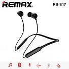 Беспроводные bluetooth-наушник с шейным ремешком REMAX RB-S17 спортивные наушники с шумоподавлением, black, фото 2