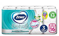 Туалетний папір Zewa Deluxe Jasmine Blossom тришаровий (квітка жасміну) 16 шт., фото 1