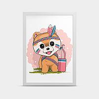 Постер на стену Индеец щенок 20*30 см