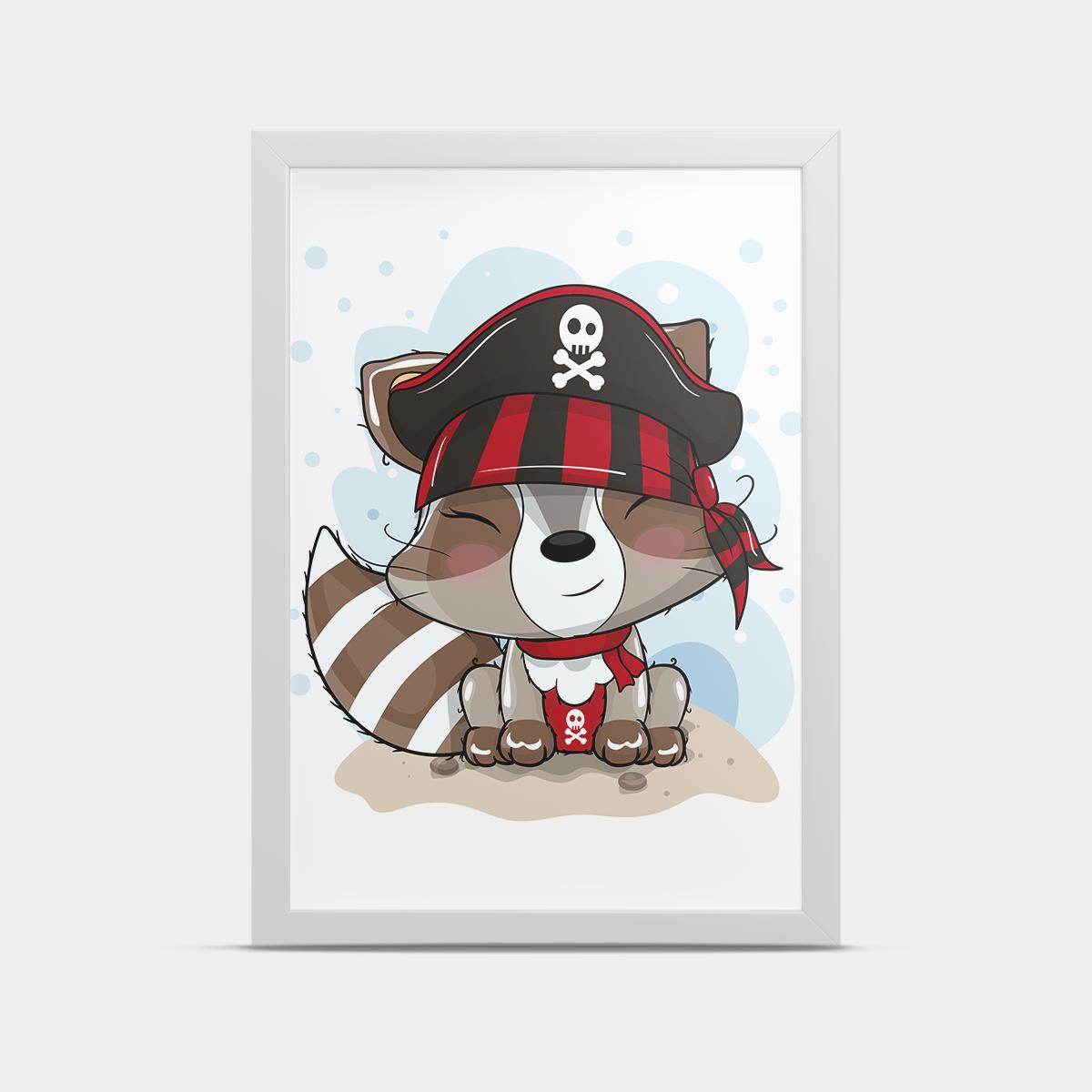 Постер на стену Пират енот 20*30 см