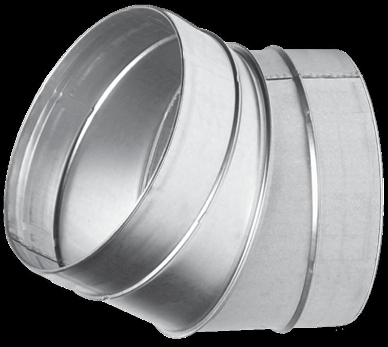 Отвод для вентиляционных каналов  30-180