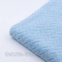 Плюш косичка блакитного кольору