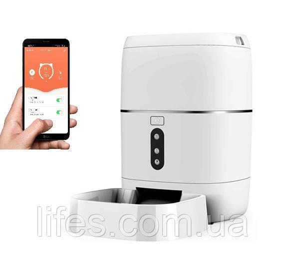 Кормушка для кошек и собак автоматическая CHINAPST FD-BL3, 6л. WiFi, Белая