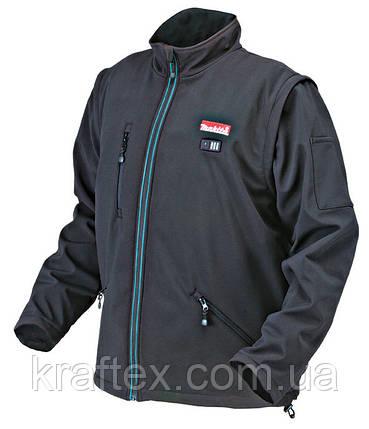 Куртка с подогревом аккумуляторная Makita DCJ200Z, фото 2