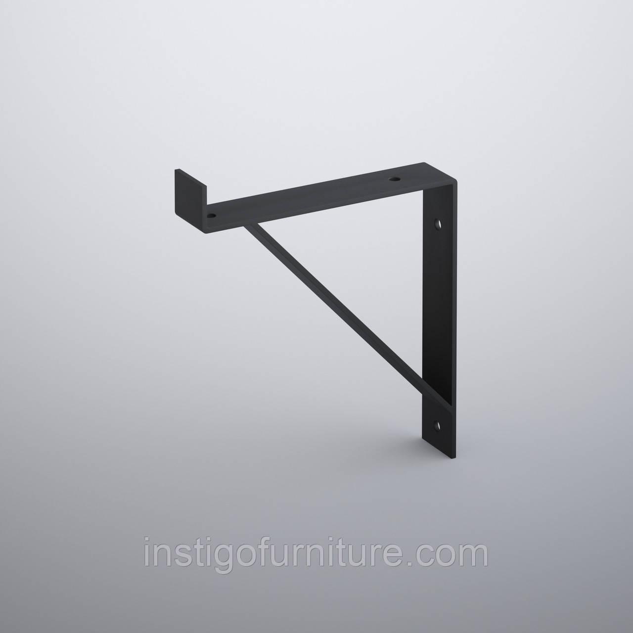 Кронштейн для полки из металла 153×30mm, H=177mm