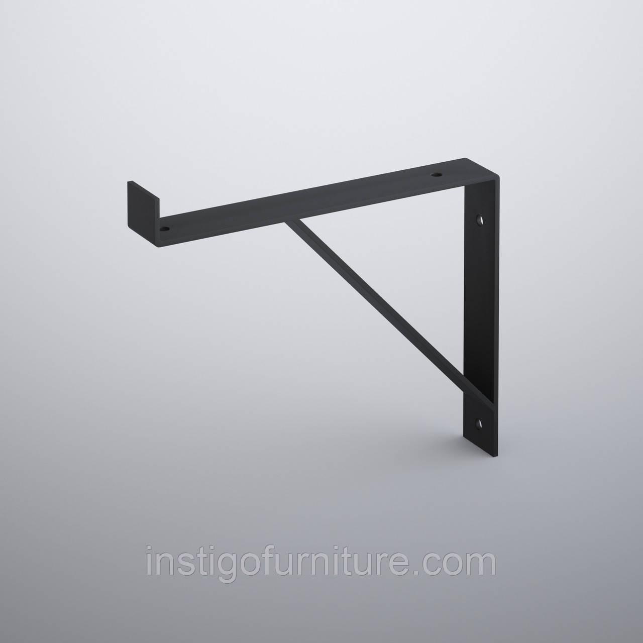 Кронштейн для полки из металла 203×30mm, H=177mm
