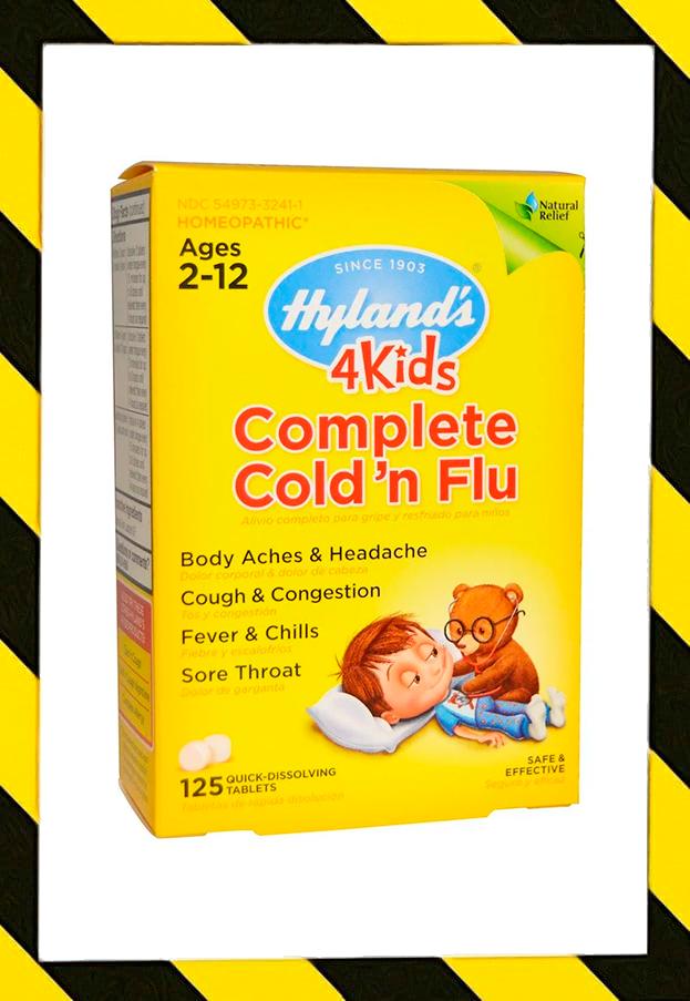 Hyland's, 4 Kids, Для детей от простуды и гриппа гомеопатия, 125 микро таблеток